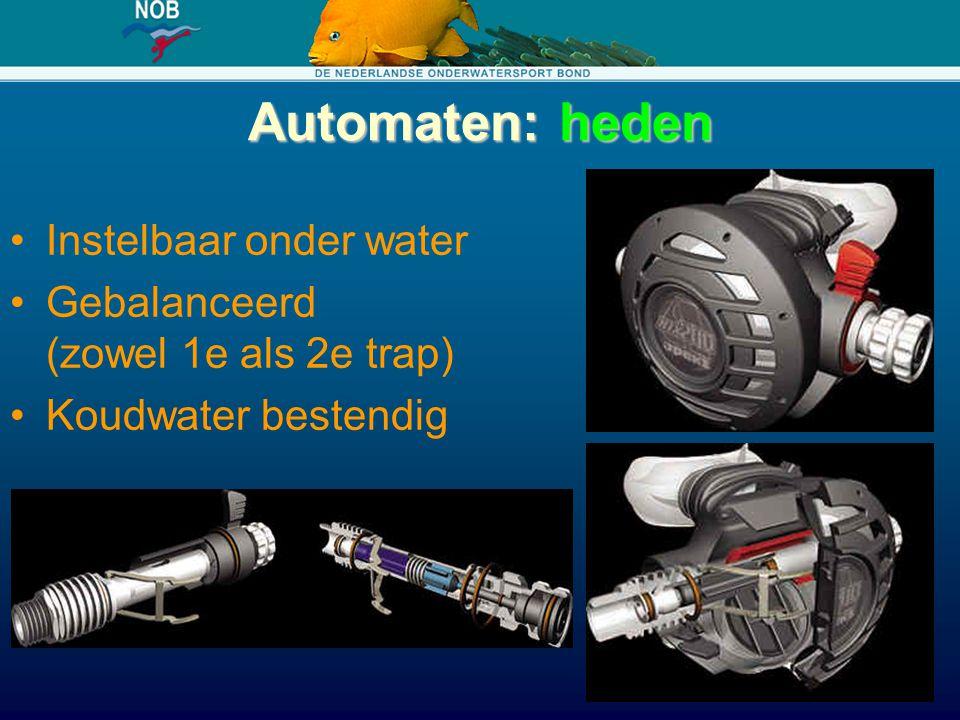 Automaten: heden Instelbaar onder water