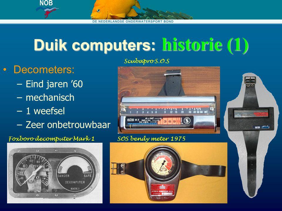 Duik computers: historie (1)