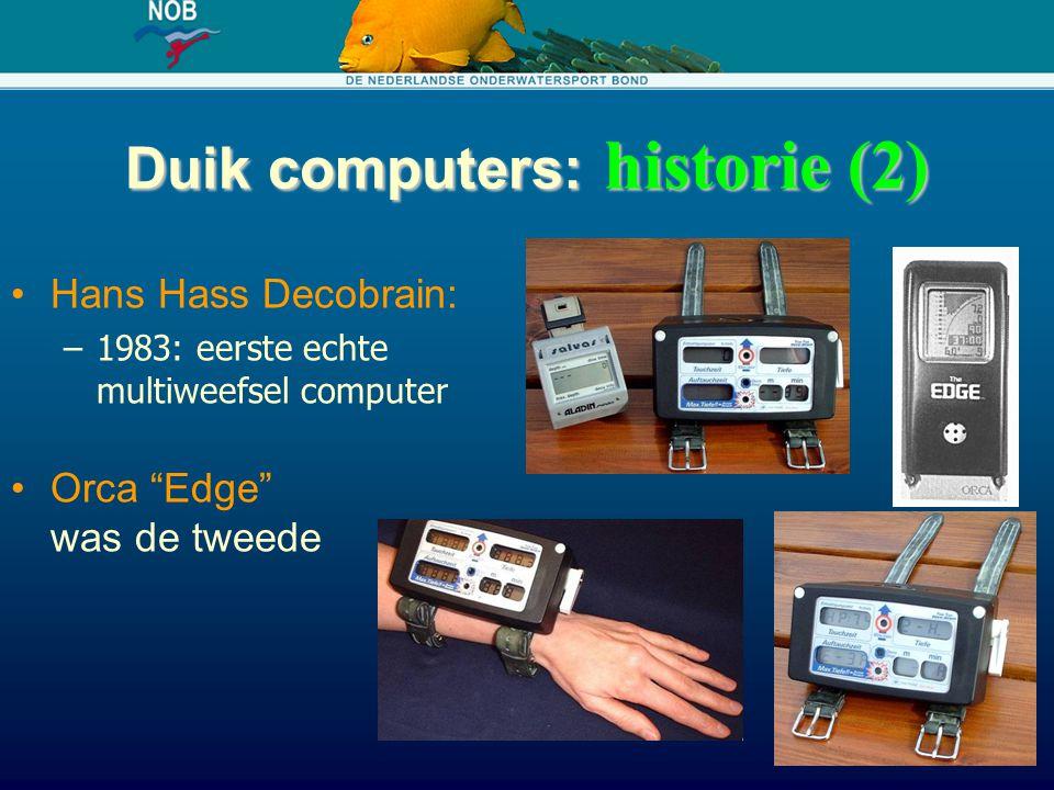 Duik computers: historie (2)