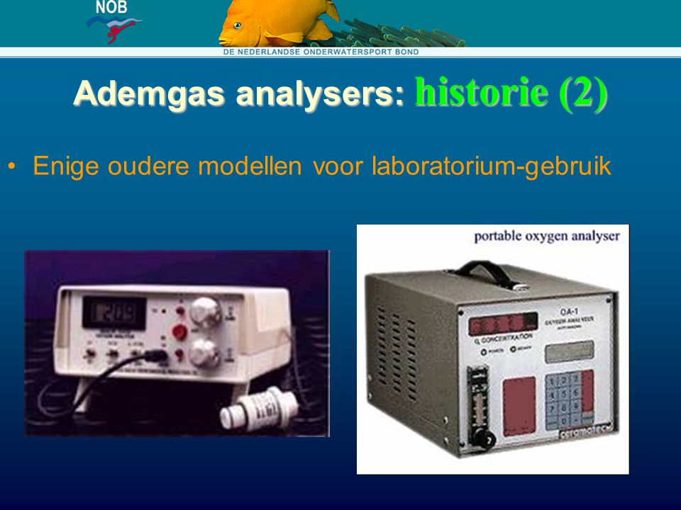 Ademgas analysers: historie (2)