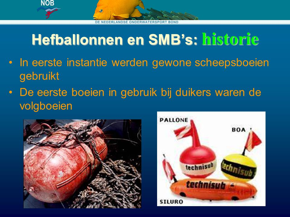 Hefballonnen en SMB's: historie