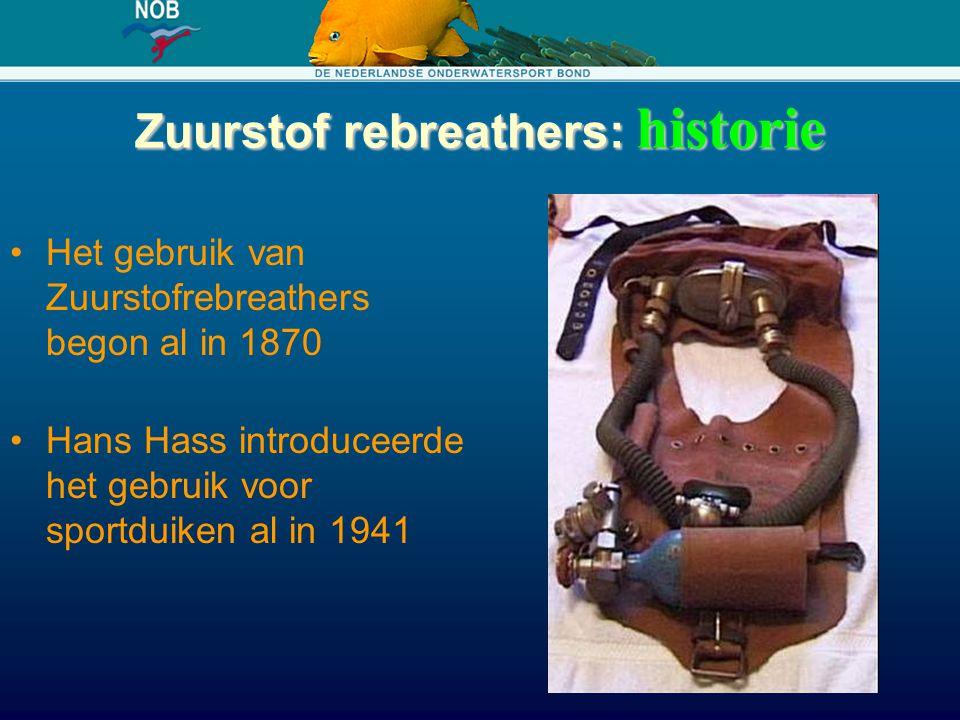 Zuurstof rebreathers: historie