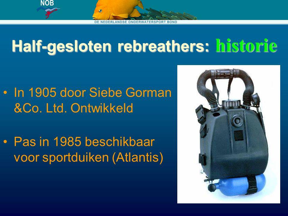 Half-gesloten rebreathers: historie