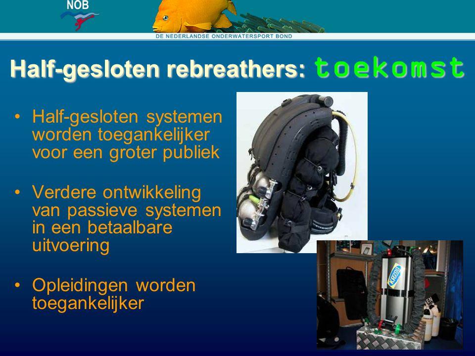 Half-gesloten rebreathers: toekomst