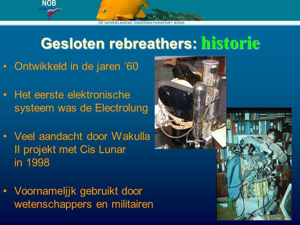 Gesloten rebreathers: historie