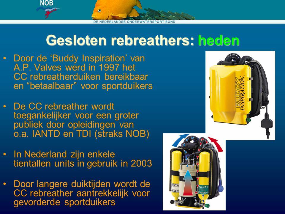 Gesloten rebreathers: heden
