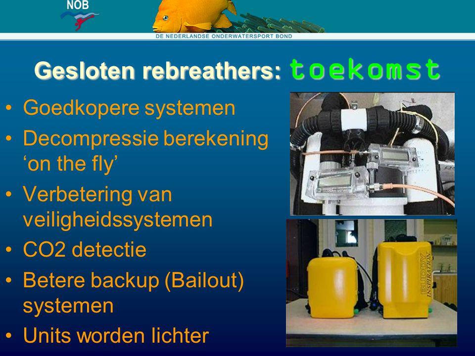 Gesloten rebreathers: toekomst