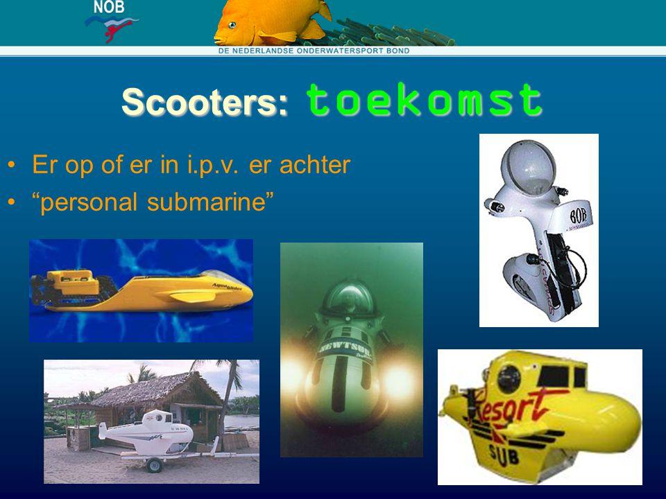 Scooters: toekomst Er op of er in i.p.v. er achter