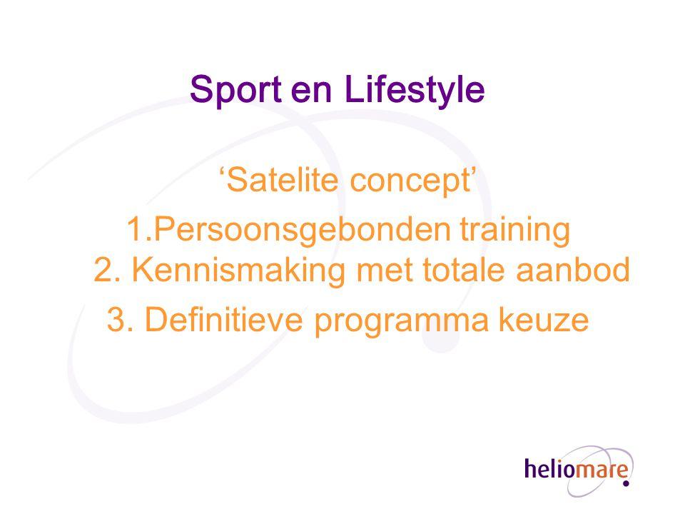 Sport en Lifestyle 'Satelite concept'