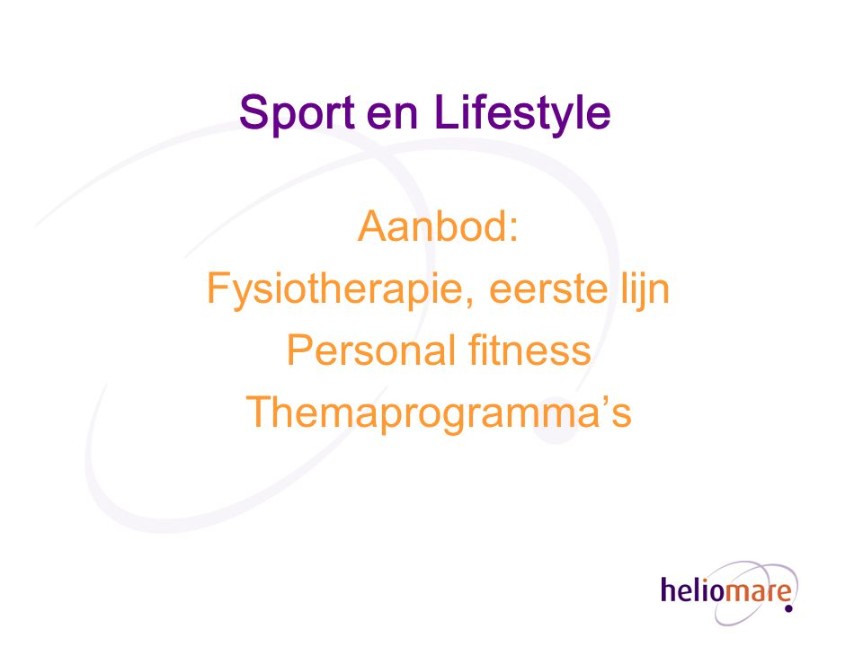 Fysiotherapie, eerste lijn