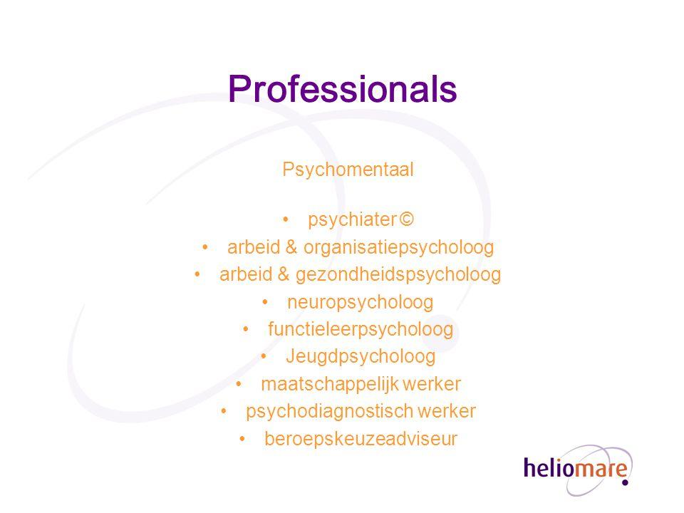 Professionals Psychomentaal psychiater ©