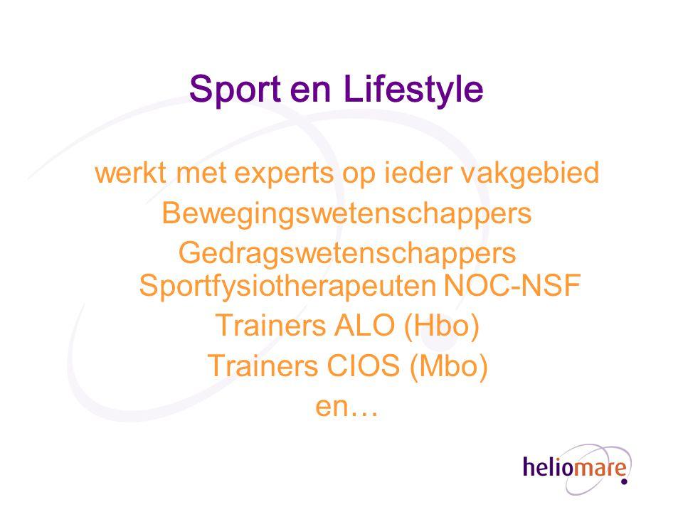 Sport en Lifestyle werkt met experts op ieder vakgebied