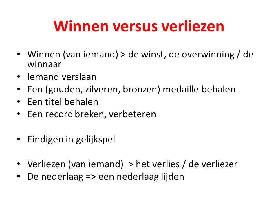 Winnen versus verliezen