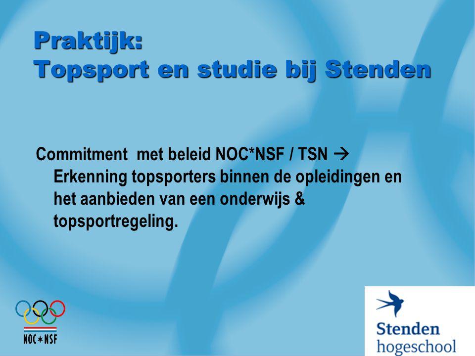 Praktijk: Topsport en studie bij Stenden
