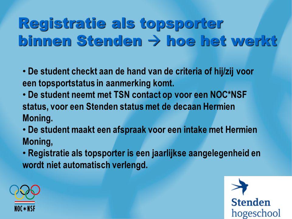 Registratie als topsporter binnen Stenden  hoe het werkt