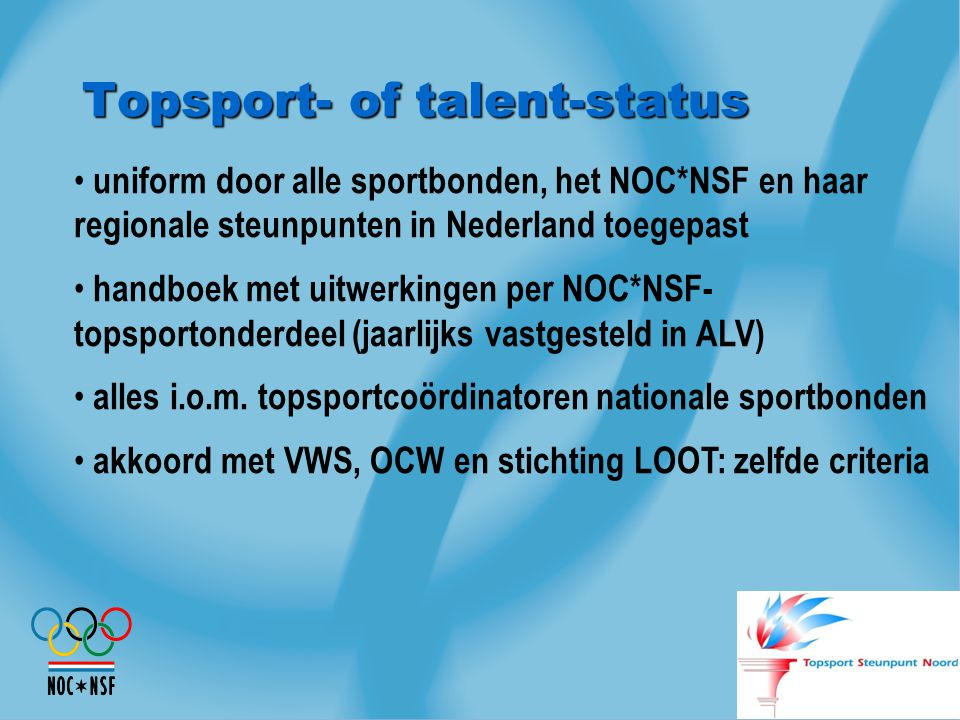 Topsport- of talent-status