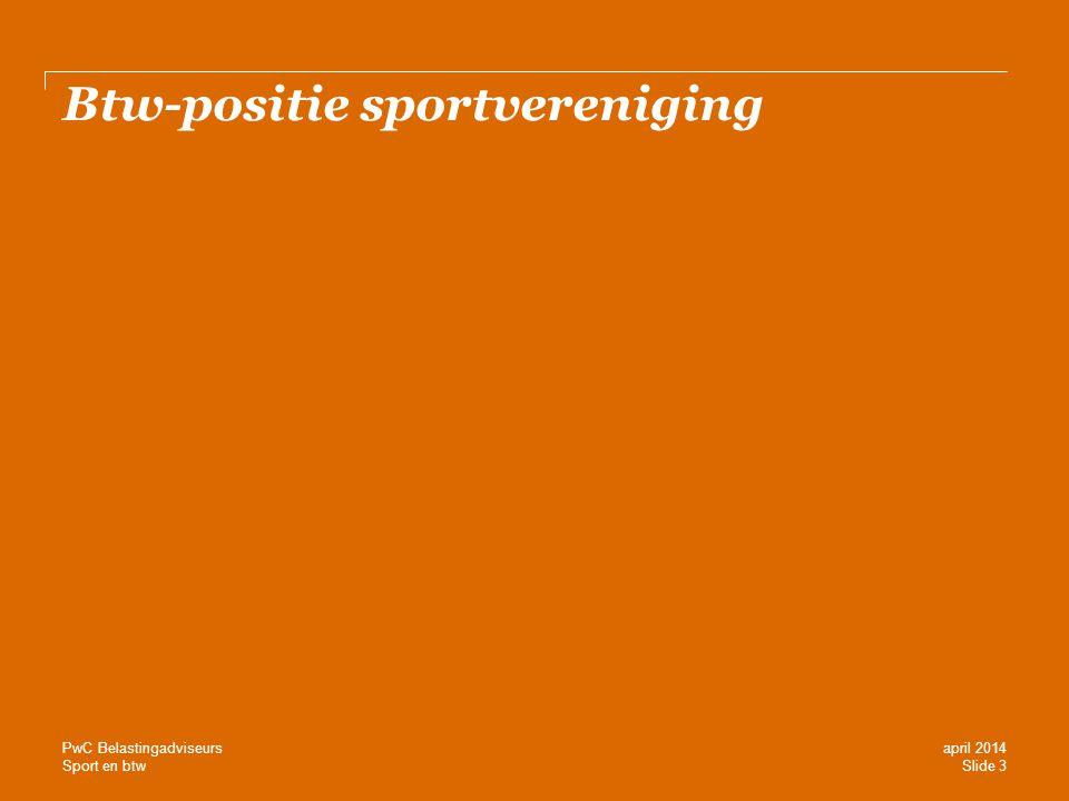 Btw-positie sportvereniging