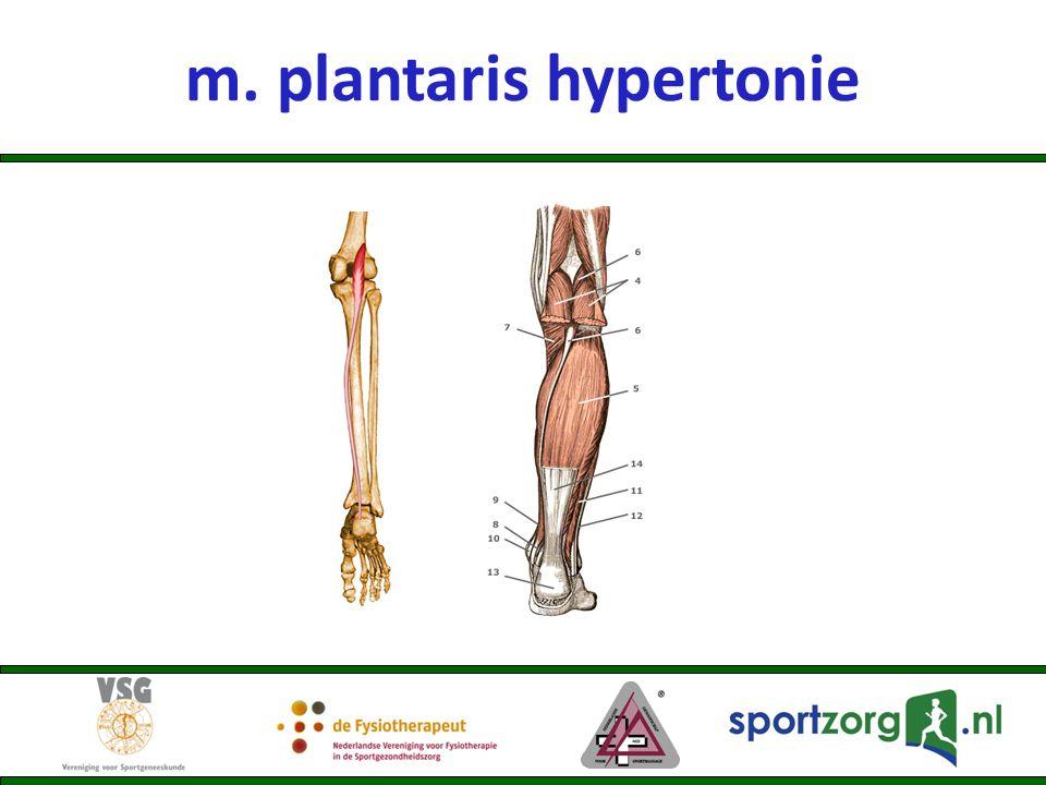 m. plantaris hypertonie