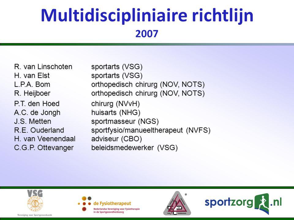 Multidiscipliniaire richtlijn 2007