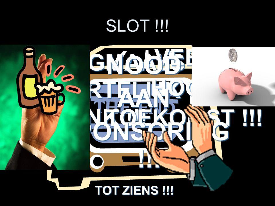 NOOD AAN SPONSORING !!! VEEL HOOP TOEKOMST !!! SLOT !!!