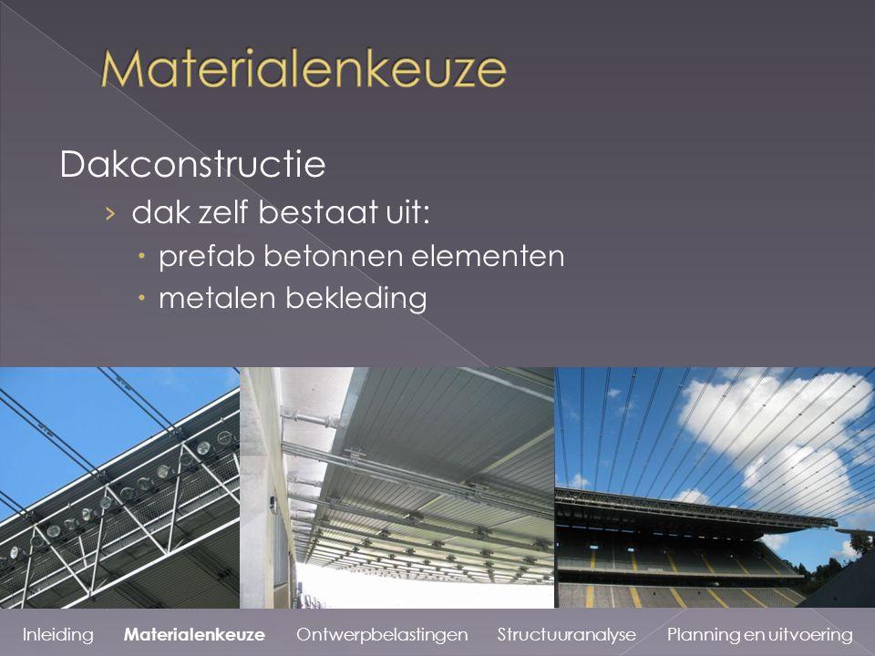 Materialenkeuze Dakconstructie dak zelf bestaat uit: