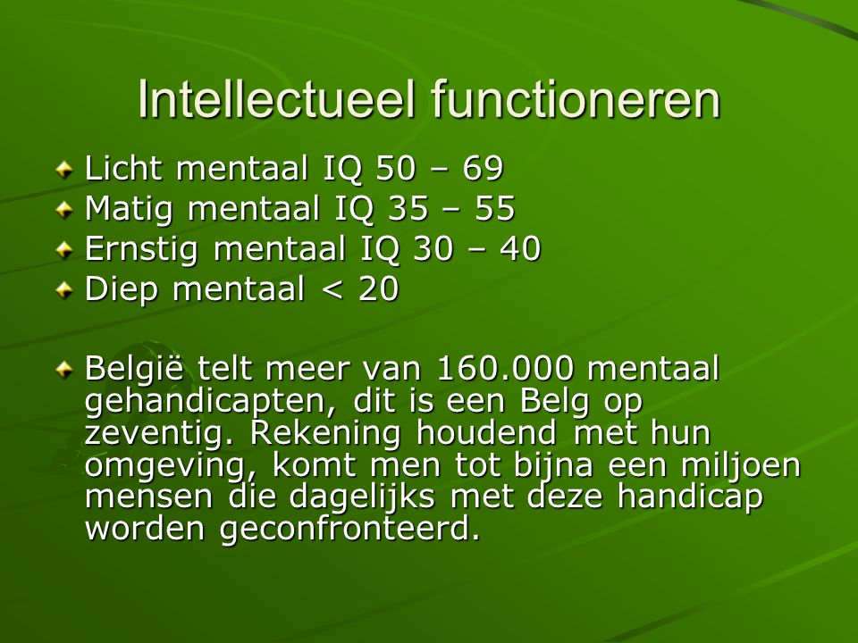 Intellectueel functioneren