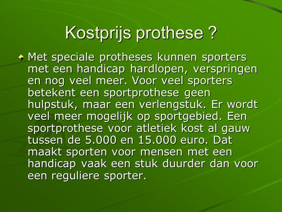 Kostprijs prothese