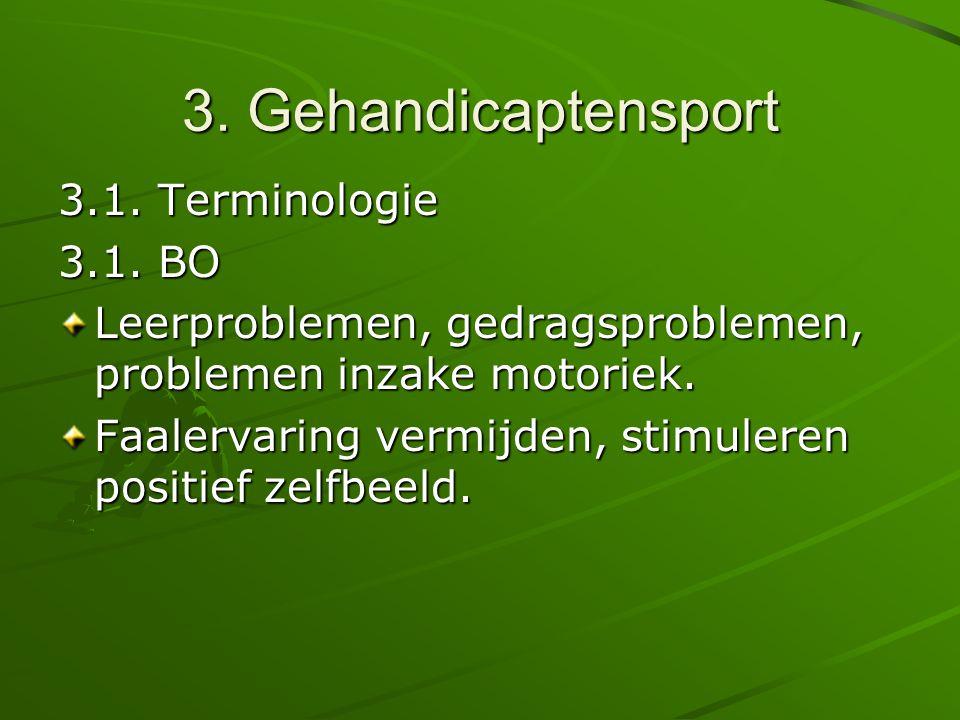 3. Gehandicaptensport 3.1. Terminologie 3.1. BO