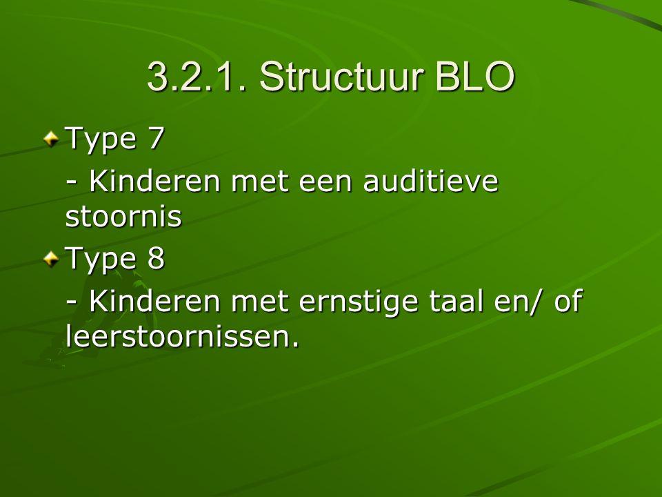 3.2.1. Structuur BLO Type 7 - Kinderen met een auditieve stoornis