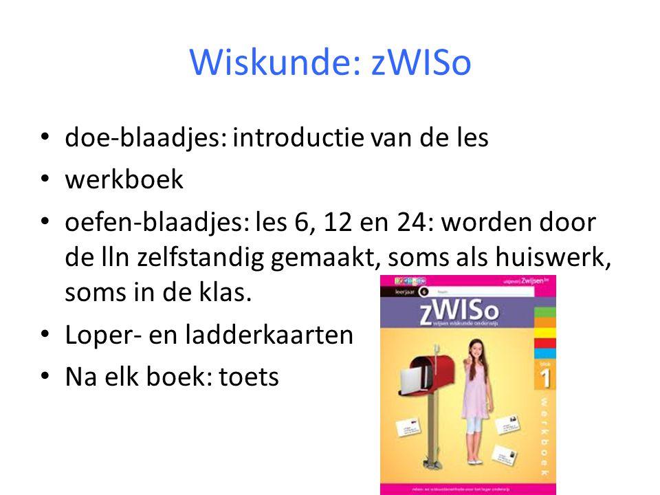 Wiskunde: zWISo doe-blaadjes: introductie van de les werkboek