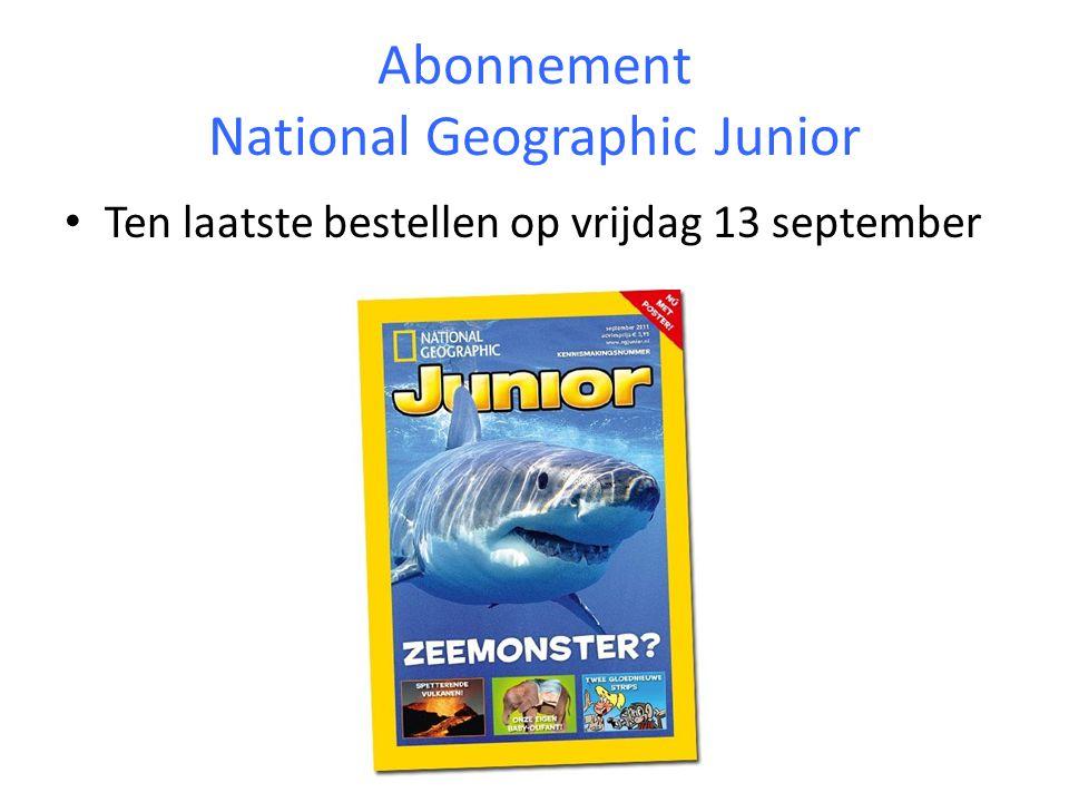 Abonnement National Geographic Junior