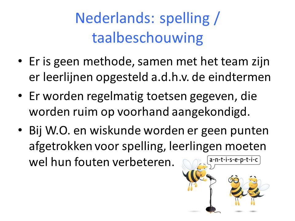 Nederlands: spelling / taalbeschouwing