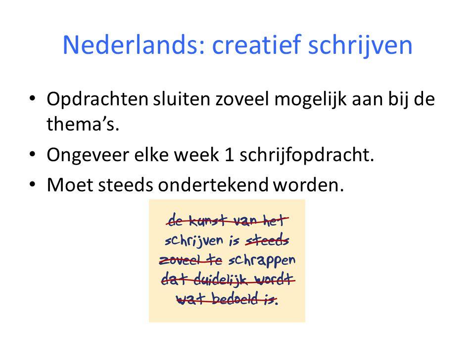 Nederlands: creatief schrijven
