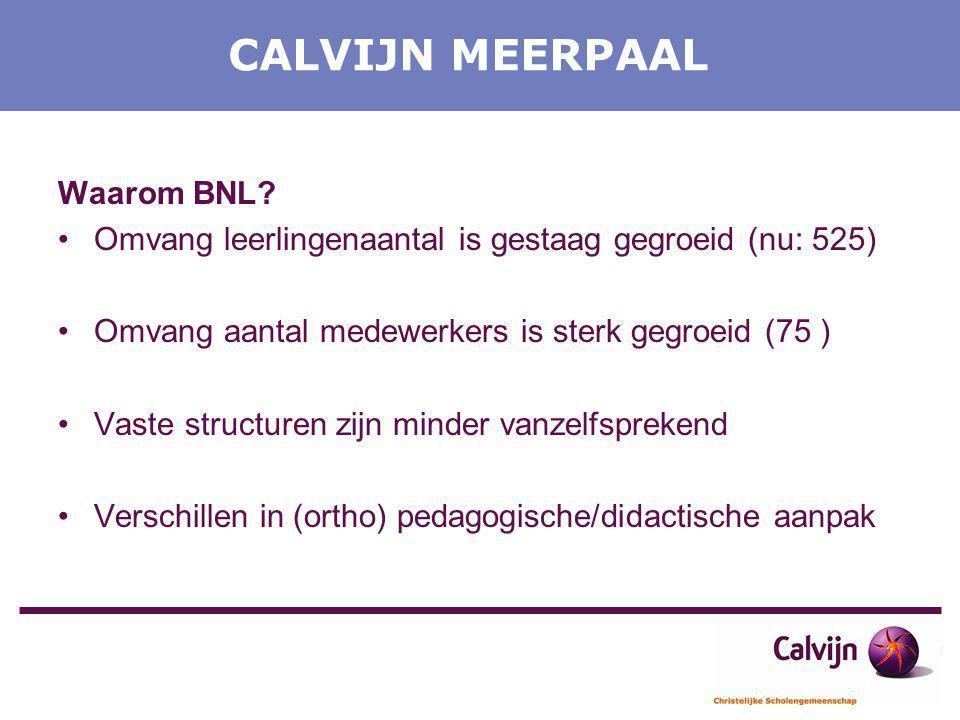 CALVIJN MEERPAAL Waarom BNL