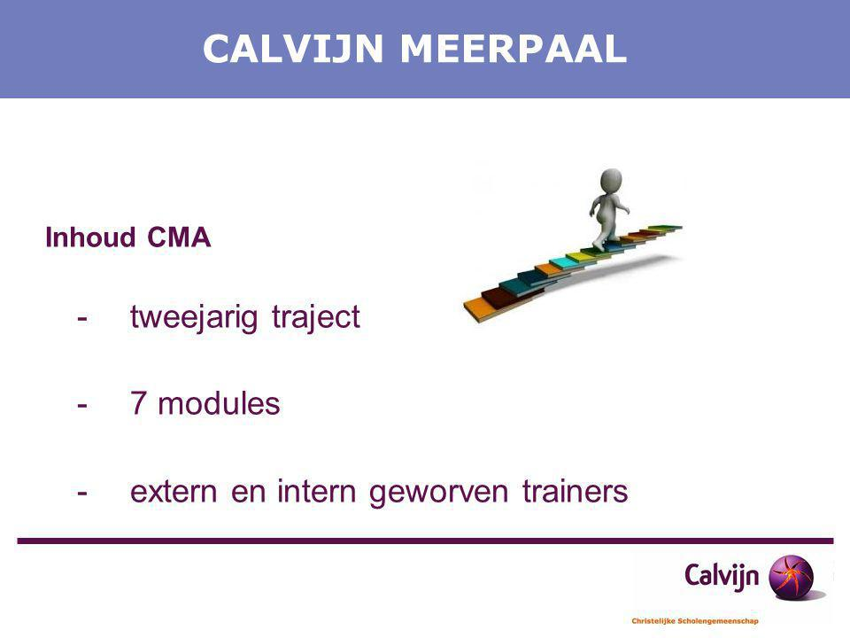 CALVIJN MEERPAAL - tweejarig traject - 7 modules