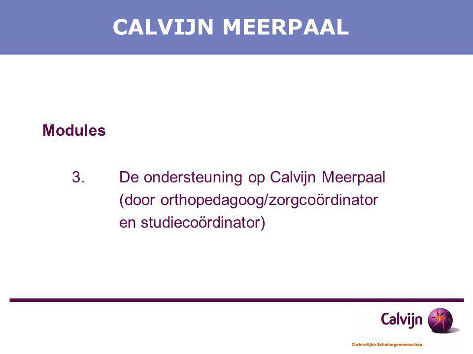 CALVIJN MEERPAAL Modules 3. De ondersteuning op Calvijn Meerpaal