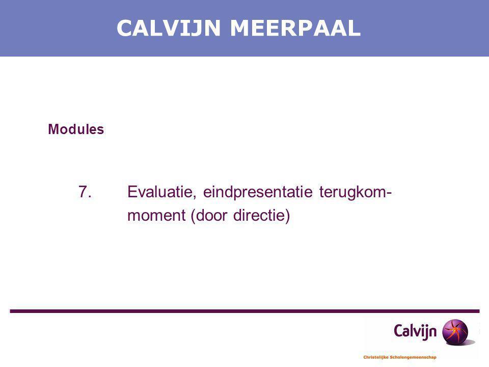 CALVIJN MEERPAAL Modules moment (door directie)