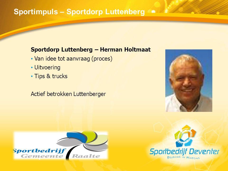 Sportimpuls – Sportdorp Luttenberg