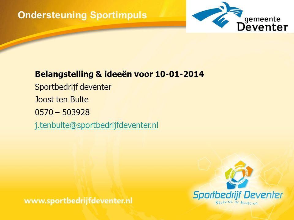 Ondersteuning Sportimpuls