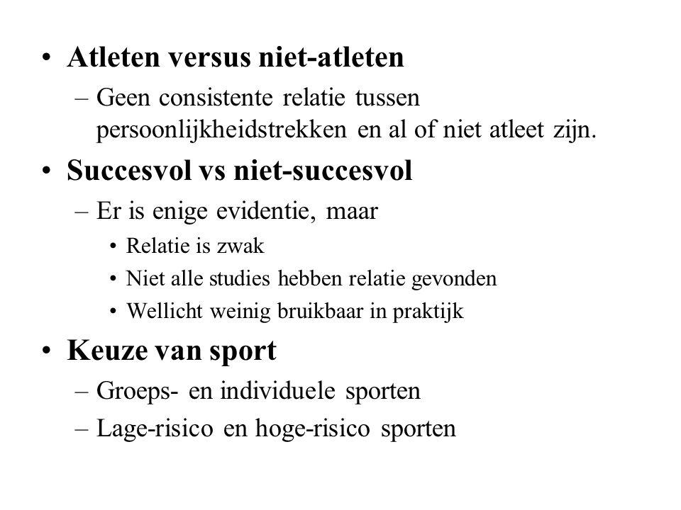 Atleten versus niet-atleten
