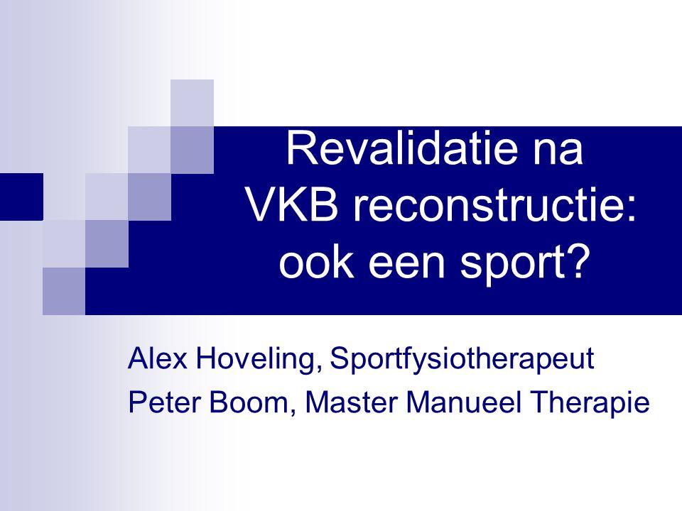Revalidatie na VKB reconstructie: ook een sport