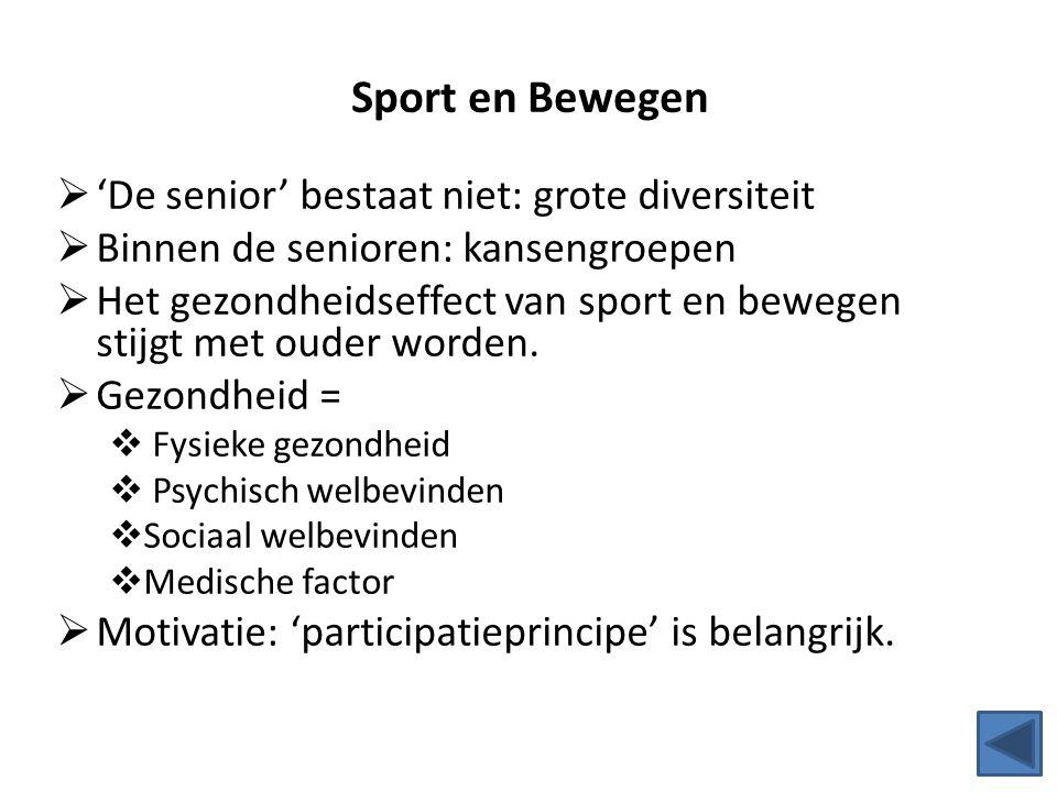 Sport en Bewegen 'De senior' bestaat niet: grote diversiteit