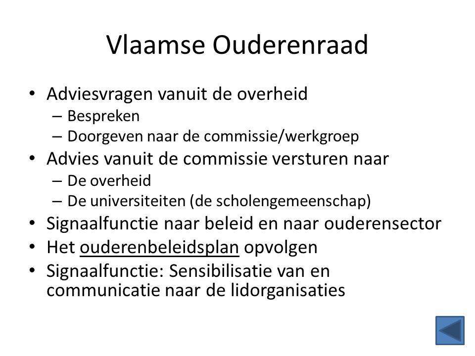 Vlaamse Ouderenraad Adviesvragen vanuit de overheid