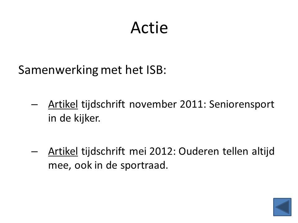 Actie Samenwerking met het ISB: