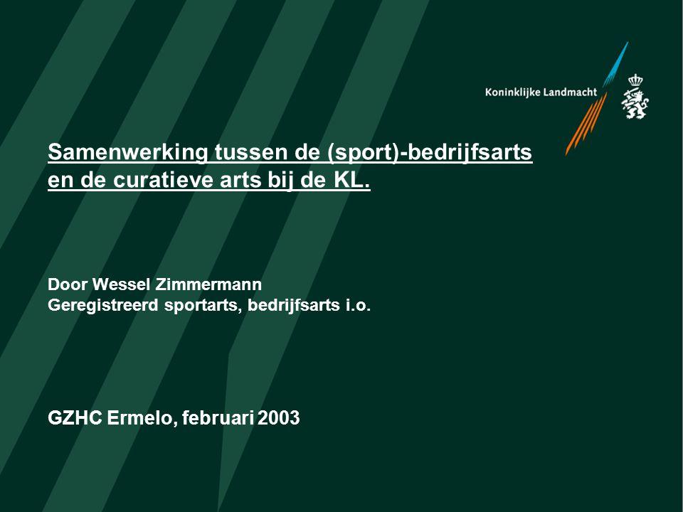 Samenwerking tussen de (sport)-bedrijfsarts en de curatieve arts bij de KL.