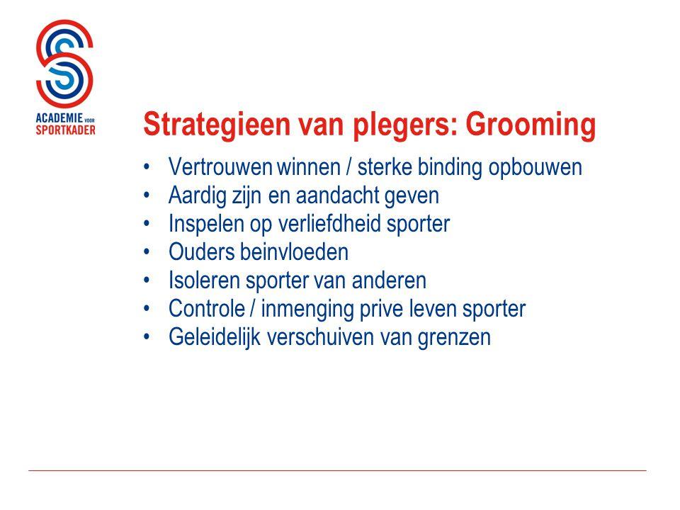Strategieen van plegers: Grooming