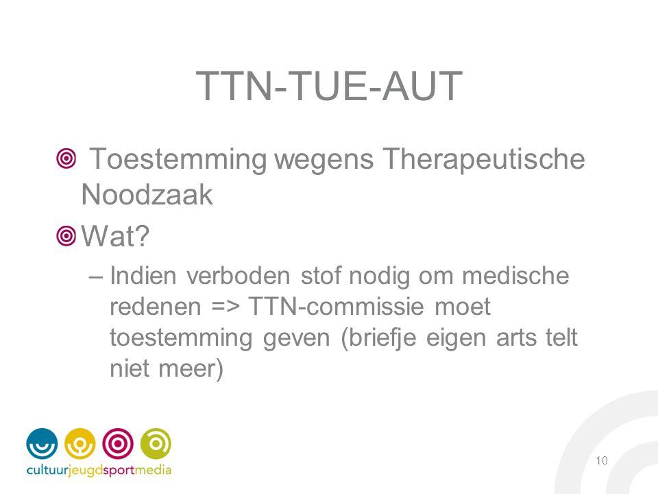 TTN-TUE-AUT Toestemming wegens Therapeutische Noodzaak Wat