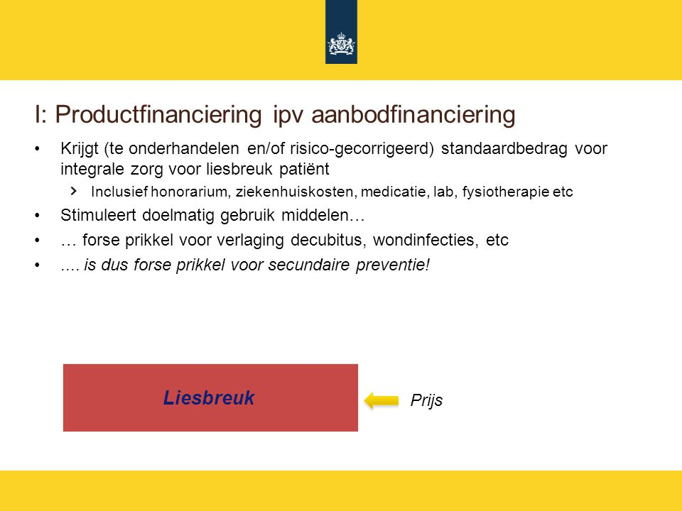 I: Productfinanciering ipv aanbodfinanciering