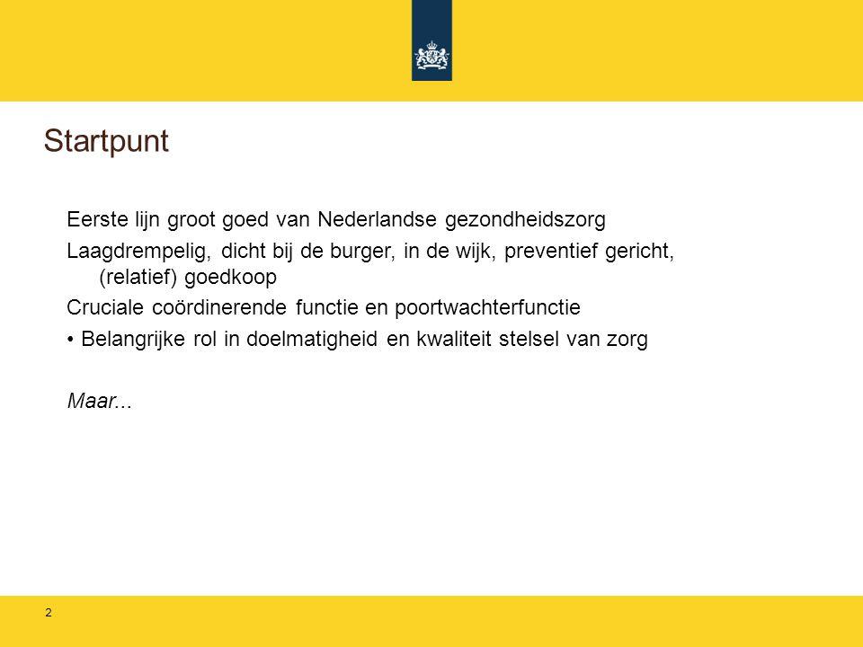 Startpunt Eerste lijn groot goed van Nederlandse gezondheidszorg