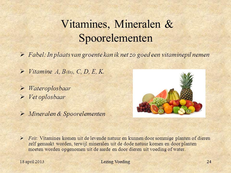 Vitamines, Mineralen & Spoorelementen